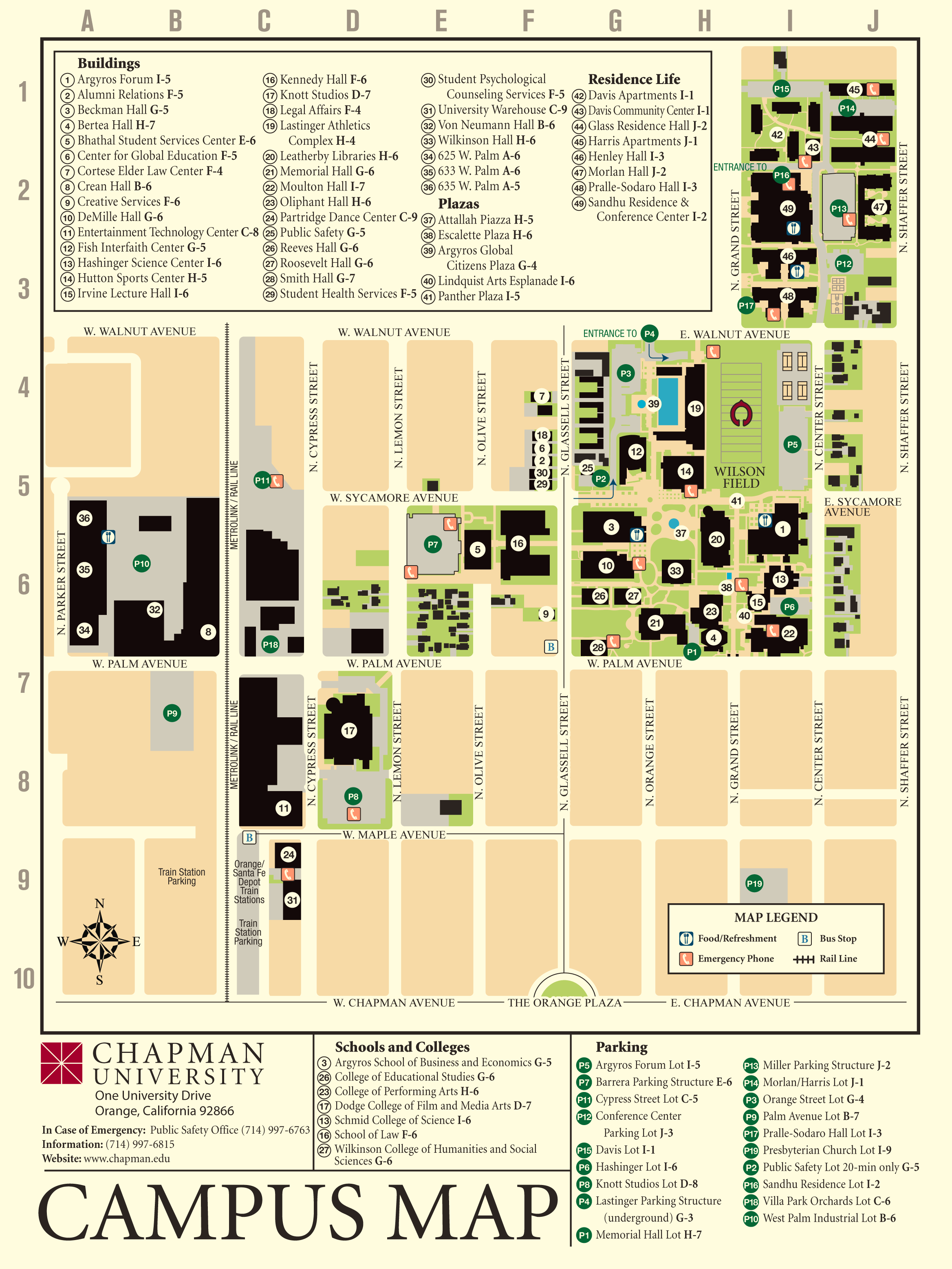 Oc Campus Map.Location Orange County